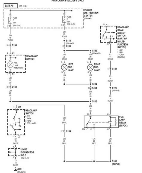 Dodge 2500 Dome Light Wiring Diagram by Trouble With Oem Fog Lights On With H Beam Mod