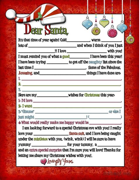 christmas printable letters tofrom santa