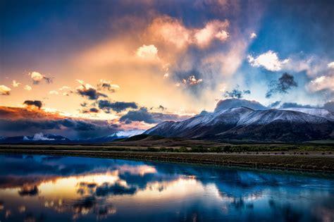 Sky Reflection In New Zealand  2048 X 1365  Landscape  Photography Miriadnacom