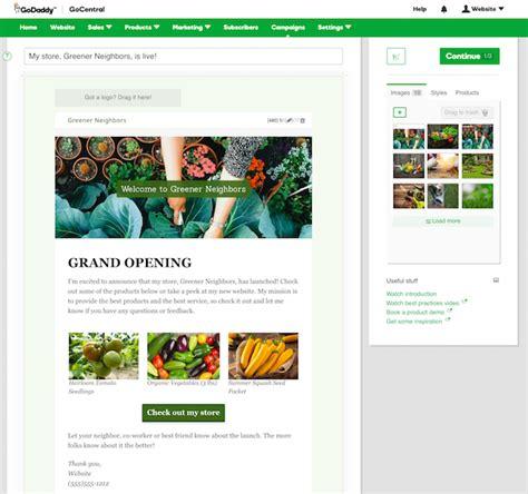 Godaddy Gocentral Email Marketing Tool