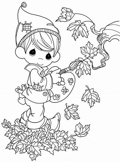 Coloring Fall Pages Elf Printable Precious