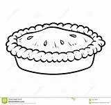 Pie Coloring Vector Preview sketch template