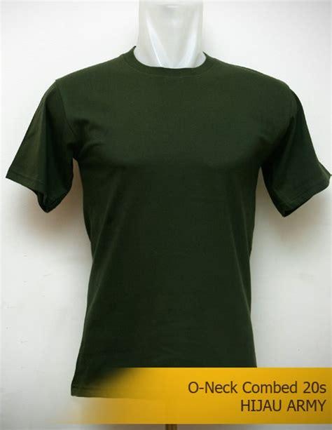 kaos polos warna hijau army cotton combed 20s lengan pendek warna hijau army