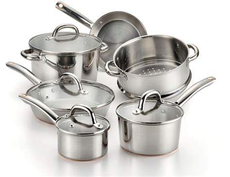 copper bottom cookware amazon com t fal c836sa ultimate stainless steel copper