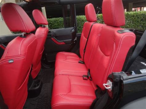 buy  rare red katzkin  jeep wrangler unlimited