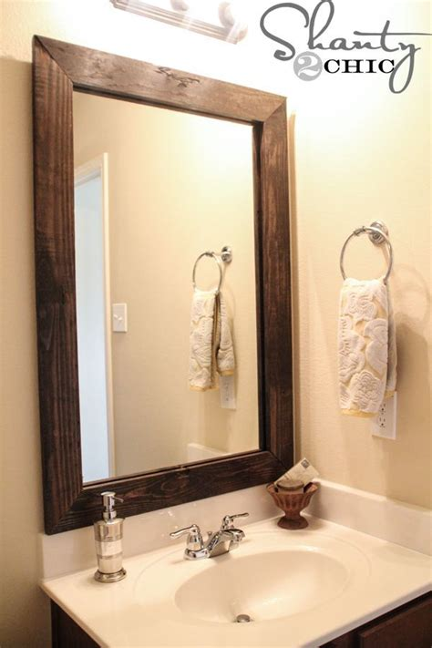diy bathroom mirror ideas diy mirror frame this is a great idea although not