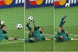 Gianluigi Buffon saves...