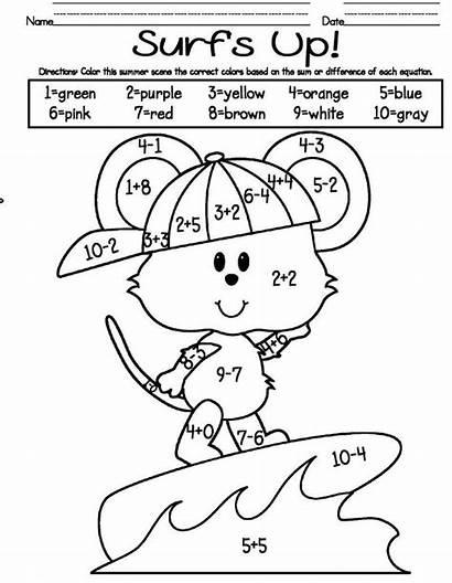Worksheets Coloring Addition Worksheet Grade Kindergarten Printable