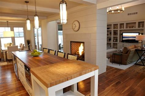 beach inspired decor  sided fireplace home decorating