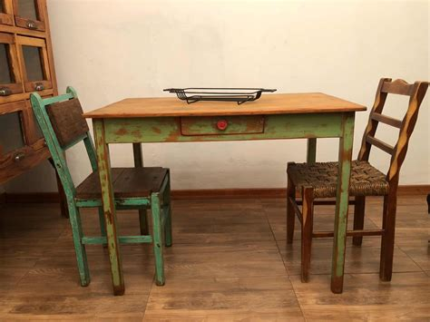 mesa de cocina antigua madera restaurada  en