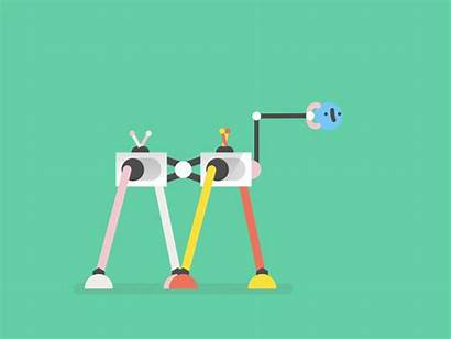 Robots Silly Robot Dribbble Vector Character Curious