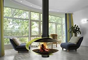 Cheminée Centrale Prix : cheminee centrale suspendue design ~ Premium-room.com Idées de Décoration
