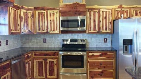 rustic red cedar kitchen cabinets modern frontier log