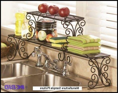 the sink shelf walmart kitchen 2 tier scrolled black the sink shelf