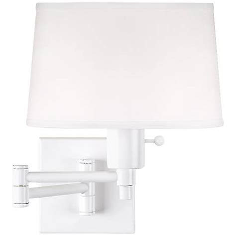 real simple collection white in swing arm wall l 58858 ls plus