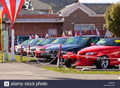 For Sale In Usa by Cars On A Used Car Sales Lot California Usa Stock Photo