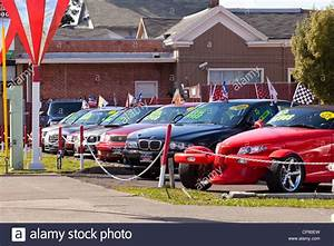 Cars on a used car sales lot California USA Stock Photo, Royalty Free Image 48119201 Alamy
