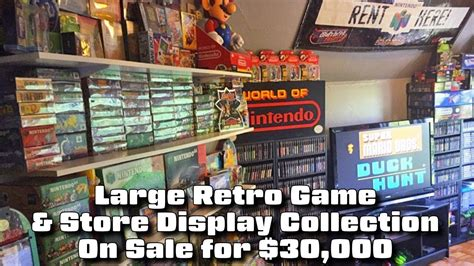 It was released in north america for the sega channel in 1995, and has been released on the virtual. Large Retro Game & Store Display Collection for $30,000 ...