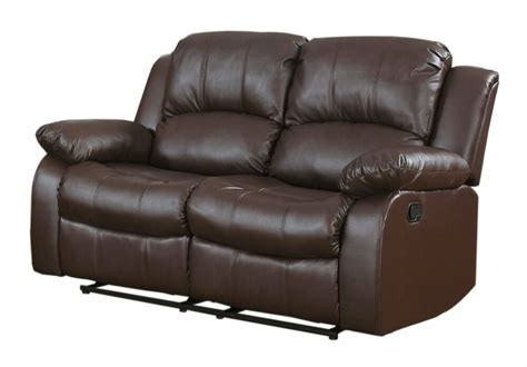 Traditional Brown Love Seat 2-seater Bonded Leather