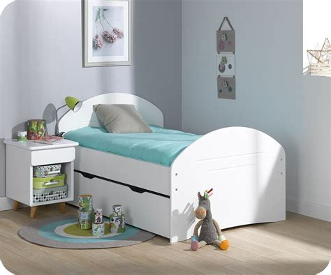 pack lit enfant 201 volutif spoom blanc avec tiroir de lit et matelas
