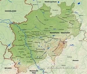 Nord Rhein Westfalen : nordrhein westfalen karte ~ Buech-reservation.com Haus und Dekorationen