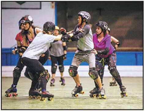 women  part   roller derby training session