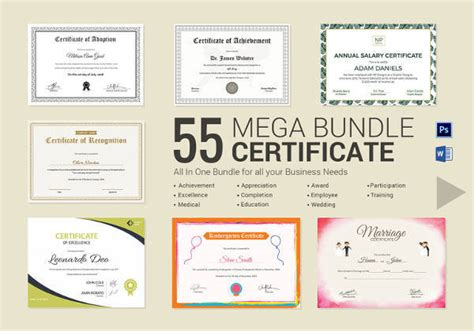 psd certificate templates psd ai word indesign
