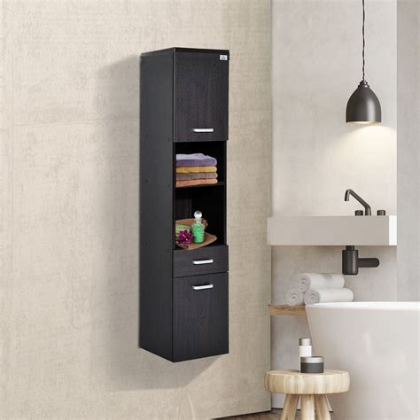 tall modern wall mounted bathroom cabinet storage