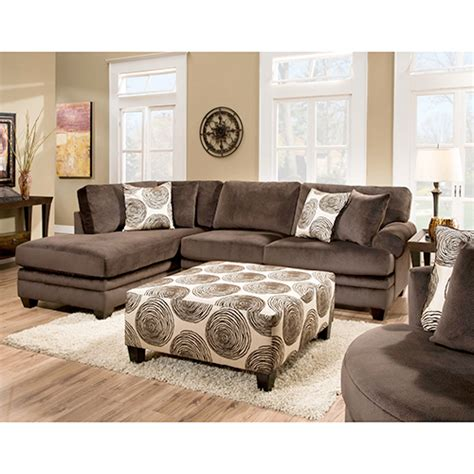 portland sectional with right chaise