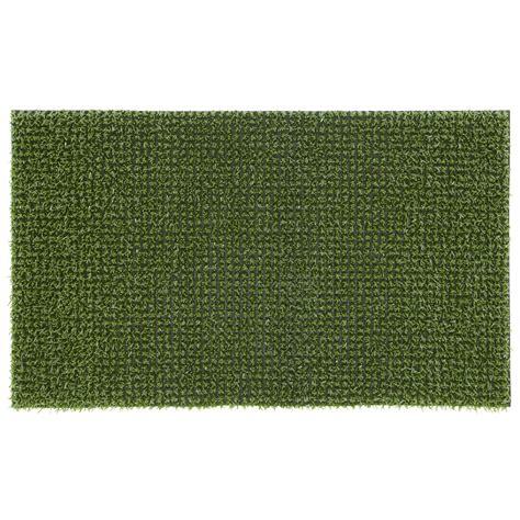 Green Doormat by Green Artificial Grass Polyethylene Door Mat L 750mm W