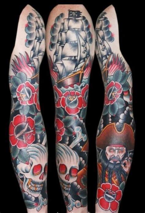 Permalink to Dark Flower Sleeve Tattoos