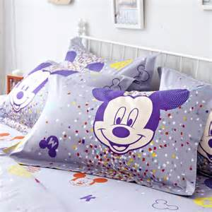purple mickey mouse full queen size duvet cover cotton