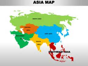 Asia Continent Map Countries