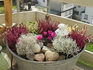 bepflanzte zinkwanne autumn pinterest gardens With whirlpool garten mit blumenkasten balkon bepflanzen