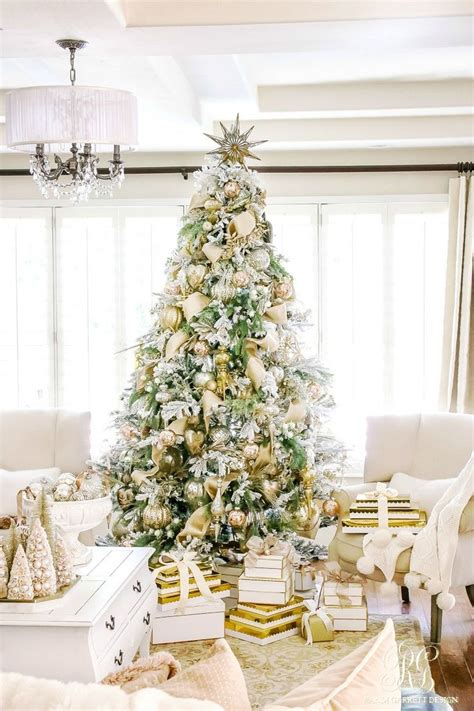 ideas  flocked christmas trees  pinterest