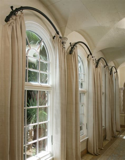 Interior Windsome Curtains For Arched Windows Decoriest
