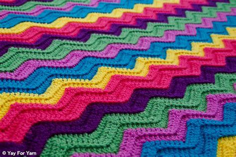 crochet afghan patterns rainbow ridge afghan free crochet pattern yay for yarn
