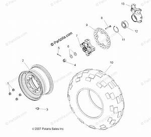 Polaris Side By Side 2008 Oem Parts Diagram For Wheel