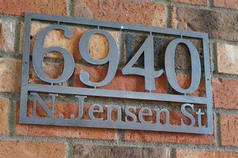 craftsman house numbers modern house numbers steel house numbers by