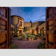 Mediterranean Style Homes With Courtyard Spanish