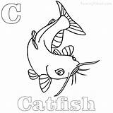 Catfish Coloring Printable Channel Coloringfolder Anank sketch template