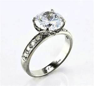 a perfect 39ct round cut russian lab diamond antique With lab diamond wedding rings