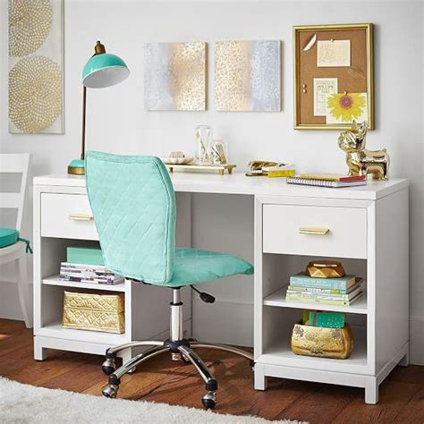 teen study desk white rowan cubby storage desk