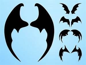 Bat Wings Silhouettes