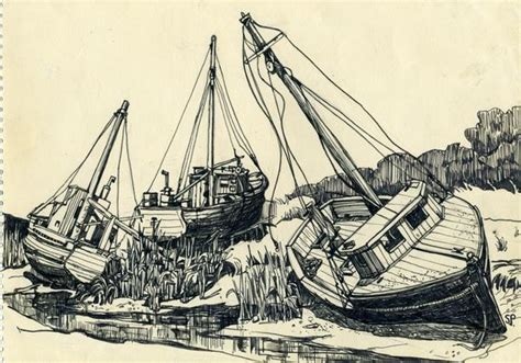 Boat Drawing Ink by The Of Sylvia Plath Latimes