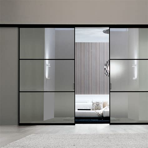 porta parete porta plana parete free 3 luxor vetro reflex