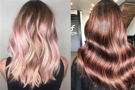 Rose Gold Is The New Metallic Hair Trend That Suits Both