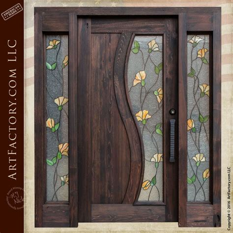 Wood Front Door With Door by Wood Iron And Glass Doors Handmade By Craftsmen In The