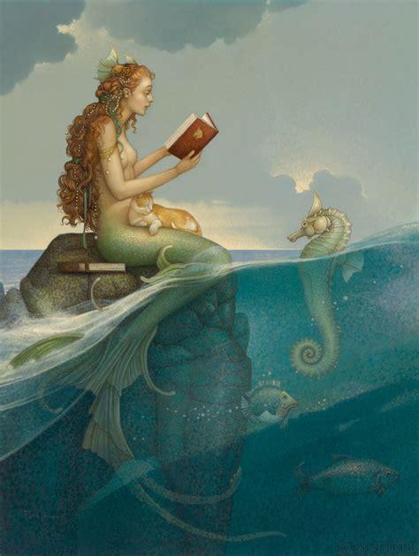 The Mermaid's Secret by Michael Parkes - Original Oil on ...