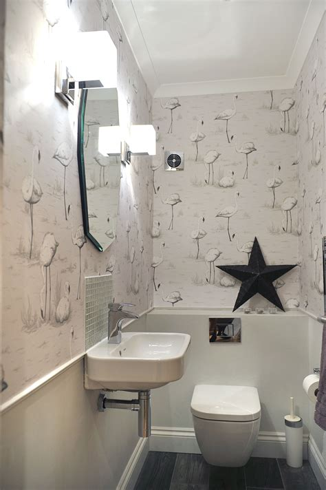 Decorating Ideas For Stairs Toilet by Downstairs Loo Grey Contemporary Room Cole